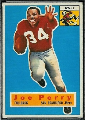 Joe Perry 1956 Topps football card
