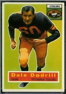Dale Dodrill 1956 Topps football card