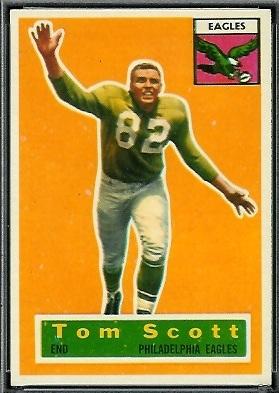 Tom Scott 1956 Topps football card
