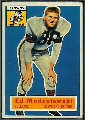 Ed Modzelewski 1956 Topps football card
