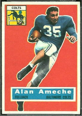 Alan Ameche 1956 Topps football card
