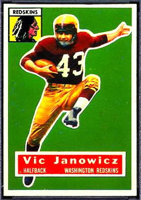 Vic Janowicz 1956 Topps football card