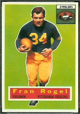 Fran Rogel 1956 Topps football card