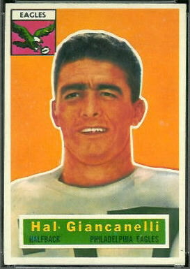 Harold Giancanelli 1956 Topps football card