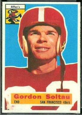 Gordon Soltau 1956 Topps football card