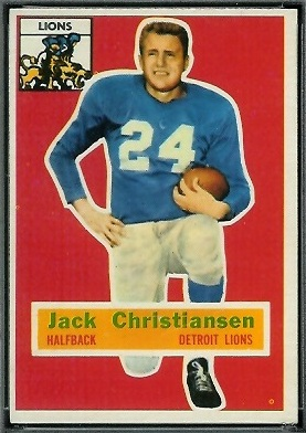 Jack Christiansen 1956 Topps football card