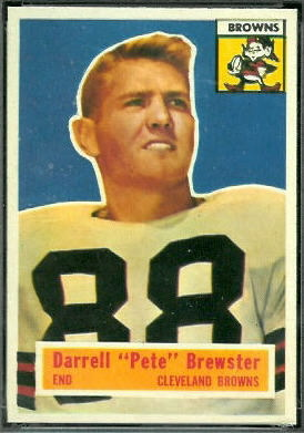 Pete Brewster 1956 Topps football card