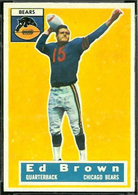 Ed Brown 1956 Topps football card