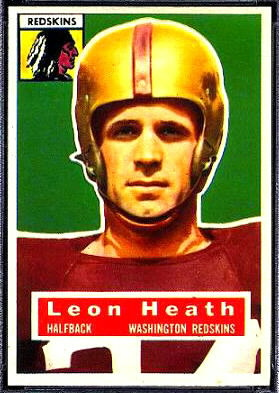 Leon Heath 1956 Topps football card