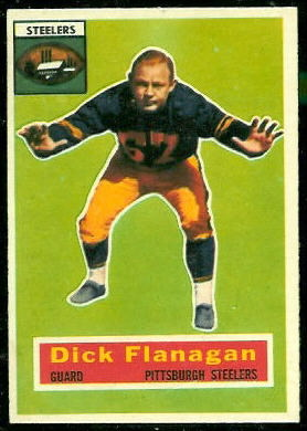 Dick Flanagan 1956 Topps football card