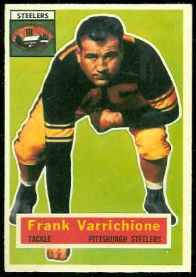 Frank Varrichione 1956 Topps football card