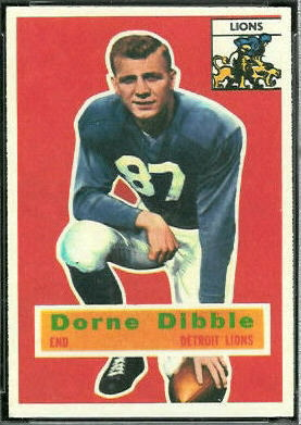 Dorne Dibble 1956 Topps football card