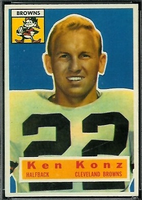 Ken Konz 1956 Topps football card