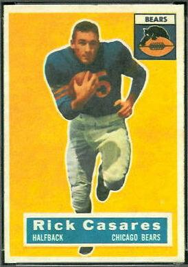 Rick Casares 1956 Topps football card