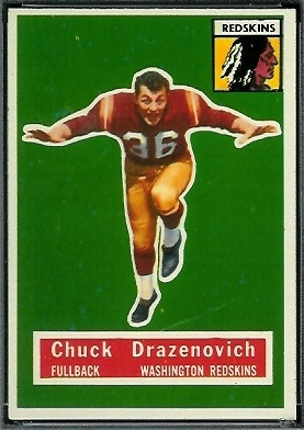 Chuck Drazenovich 1956 Topps football card