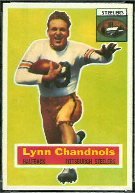 Lynn Chandnois 1956 Topps football card