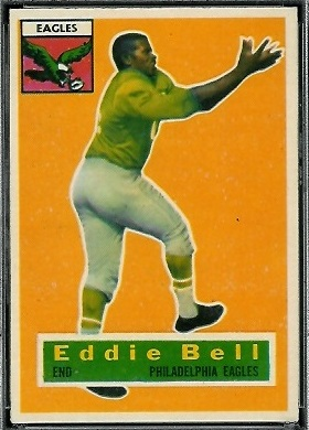 Eddie Bell 1956 Topps football card