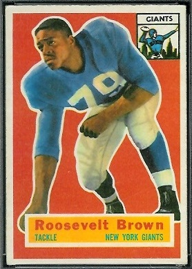 Roosevelt Brown 1956 Topps football card