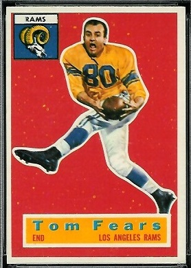 Tom Fears 1956 Topps football card
