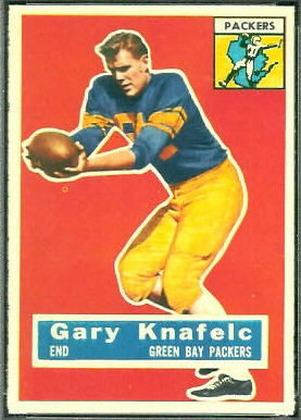 Gary Knafelc 1956 Topps football card