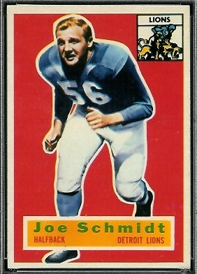 Joe Schmidt 1956 Topps football card