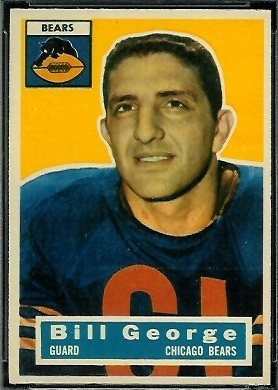 Bill George 1956 Topps football card