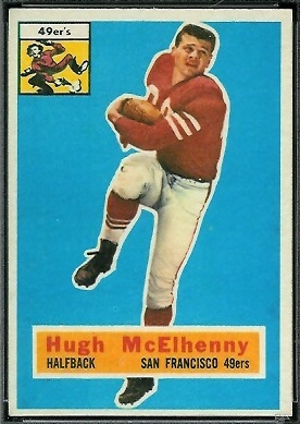 Hugh McElhenny 1956 Topps football card