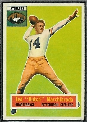 Ted Marchibroda 1956 Topps football card