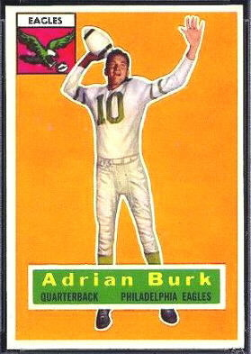 Adrian Burk 1956 Topps football card