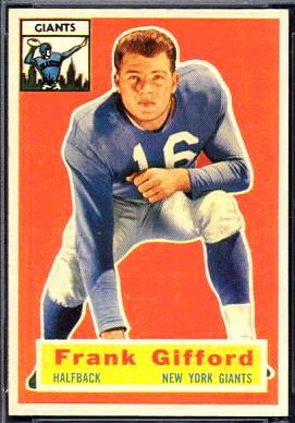 Frank Gifford 1956 Topps football card