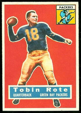 Tobin Rote 1956 Topps football card