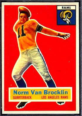 Norm Van Brocklin 1956 Topps football card