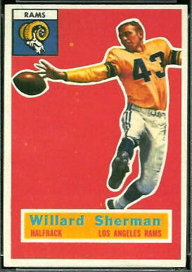 Will Sherman 1956 Topps football card