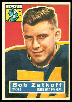 Roger Zatkoff 1956 Topps football card