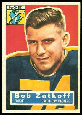 Roger Zatkoff 1956 Topps football card