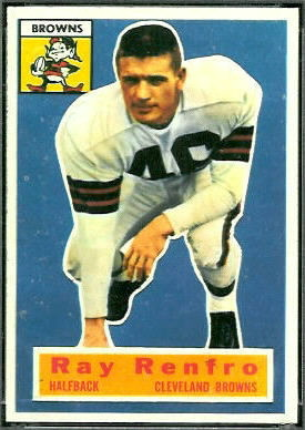 Ray Renfro 1956 Topps football card