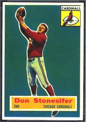 Don Stonesifer 1956 Topps football card