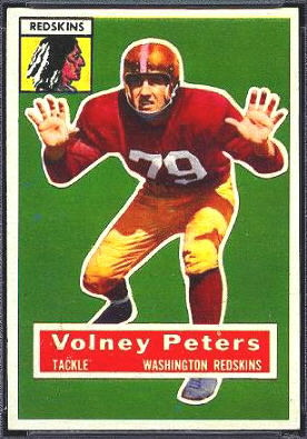 Volney Peters 1956 Topps football card
