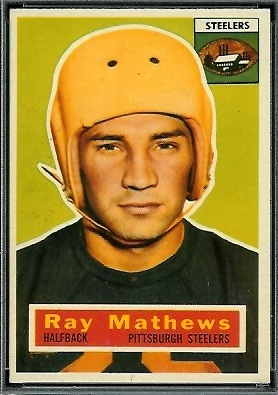 Ray Mathews 1956 Topps football card