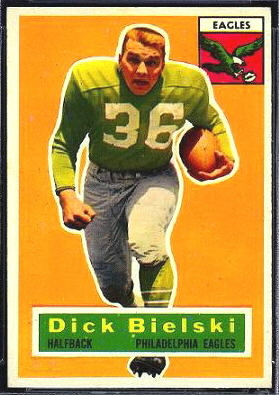 Dick Bielski 1956 Topps football card