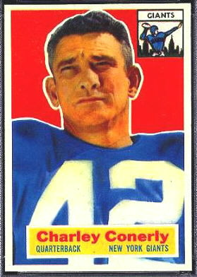 Charley Conerly 1956 Topps football card
