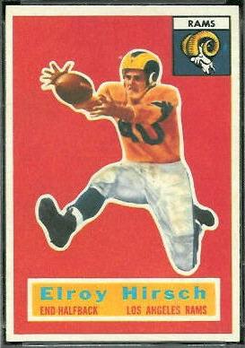 Elroy Hirsch 1956 Topps football card