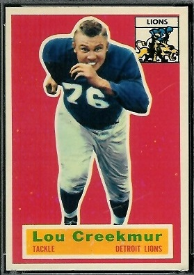 Lou Creekmur 1956 Topps football card