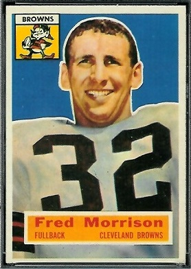 Fred Morrison 1956 Topps football card