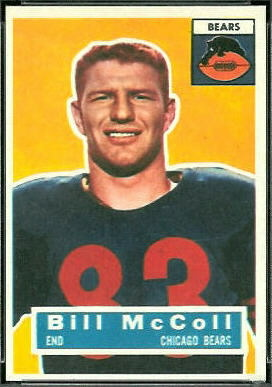 Bill McColl 1956 Topps football card
