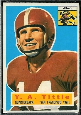 Y.A. Tittle 1956 Topps football card