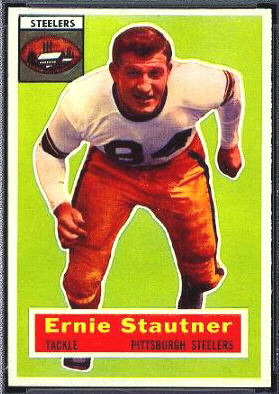 Ernie Stautner 1956 Topps football card
