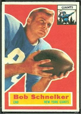 Bob Schnelker 1956 Topps football card