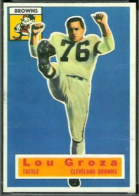 Lou Groza 1956 Topps football card