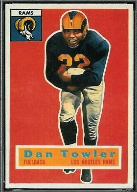 Dan Towler 1956 Topps football card